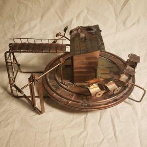Vintage Copper Musical Train